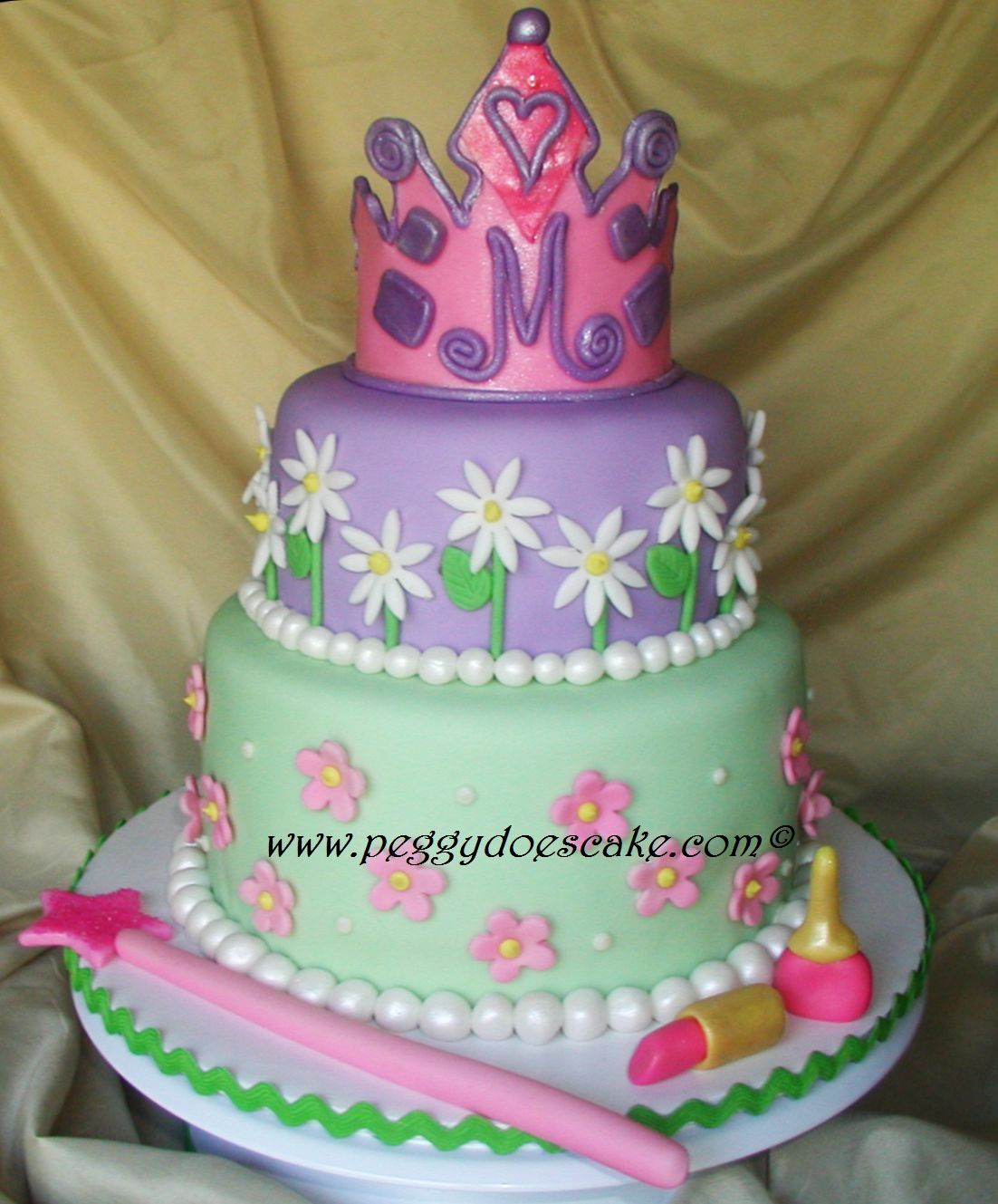 Peggy Does Cake.: Meg's Princess Cake For Her Birthday Tea
