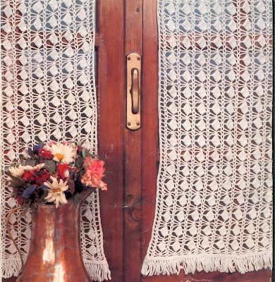 Cortinas crochetManualidades