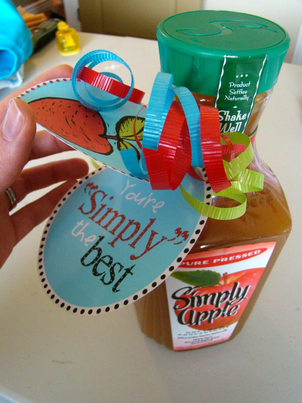 appreciation teacher gifts simply juice apple re employee week printables gift teachers employees idea diy basket printable give thank valentine