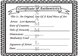 certificates of authenticity templates - kitties cupcakes by lori ramotar how to make your own