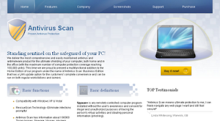 Antivirus Scan Proven Antivirus Protection fraud site screenshot