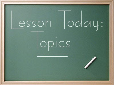 Mr Mclaughlins Class Demonstration Speech Topic Selection