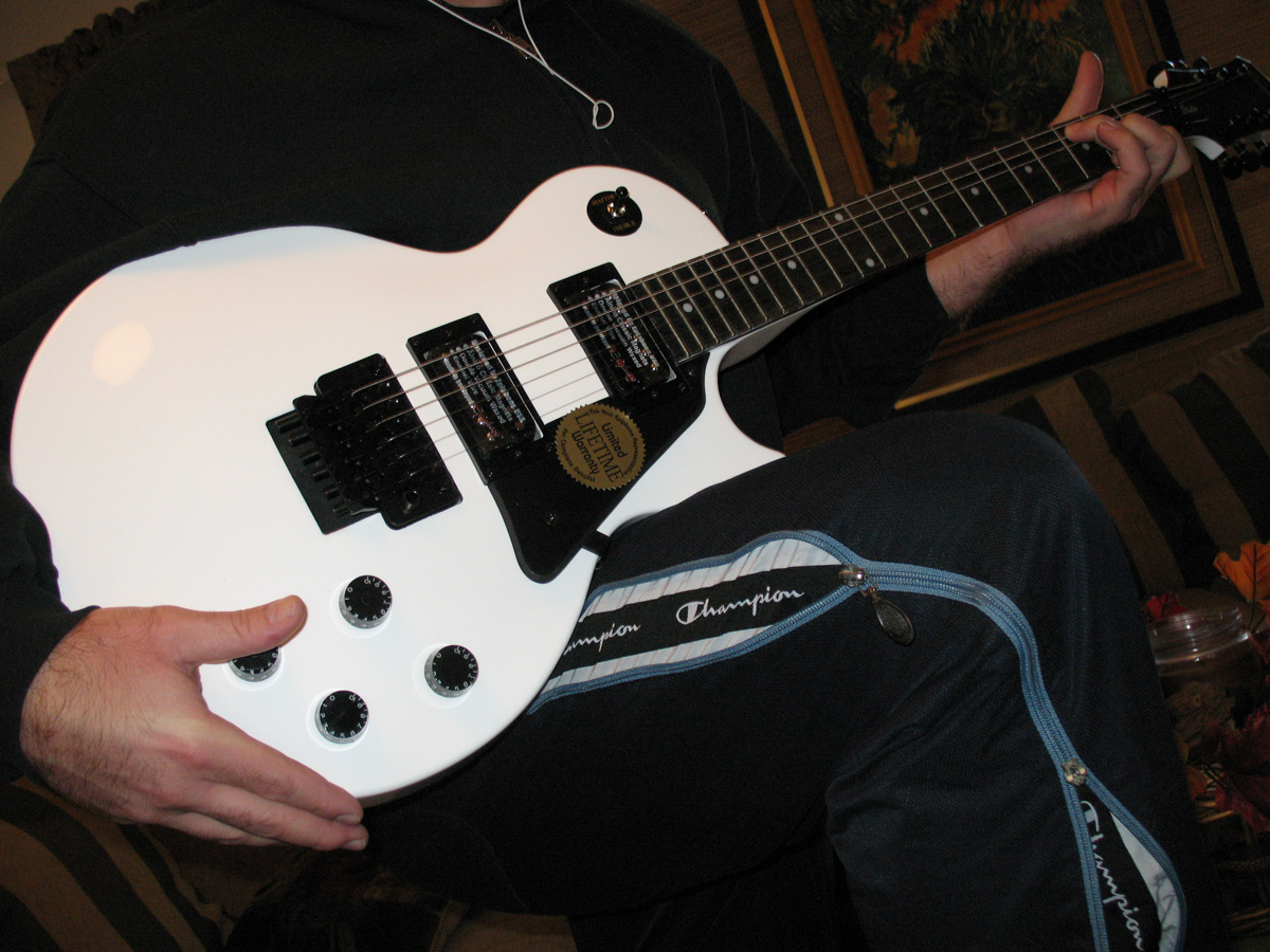 shazzz my les paul with floyd rose. Black Bedroom Furniture Sets. Home Design Ideas