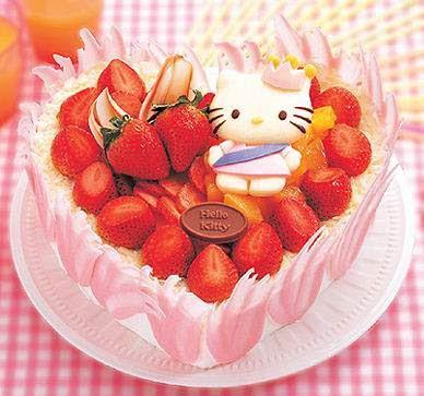 Kue Kue Cake UNIK ala KITTY www.klikunic.com