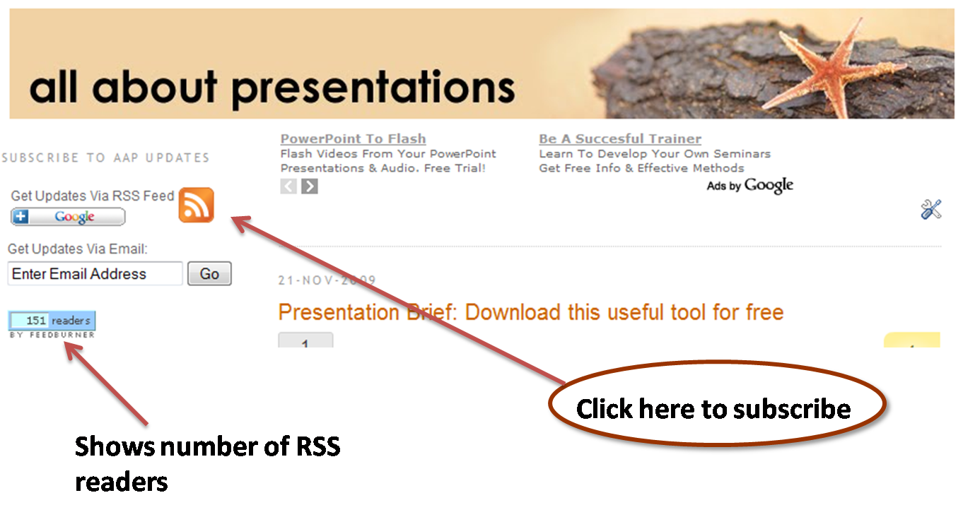 All About Presentations' by Jazz Factory: What is RSS Feed?