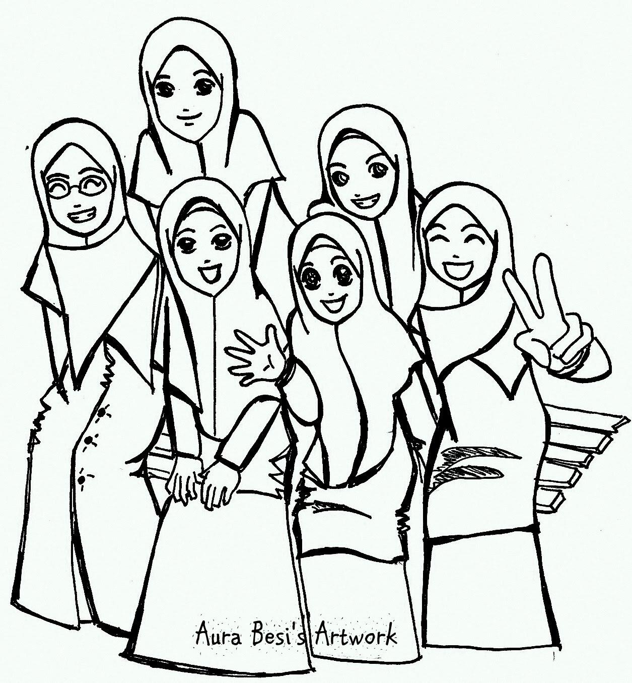 Kartun Muslimah Persahabatan Gambar Kartun