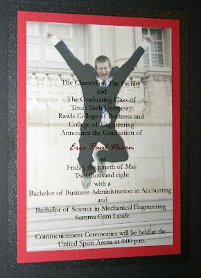 Whitney owen designs eric nixon texas tech graduation announcements eric nixon texas tech graduation announcements filmwisefo
