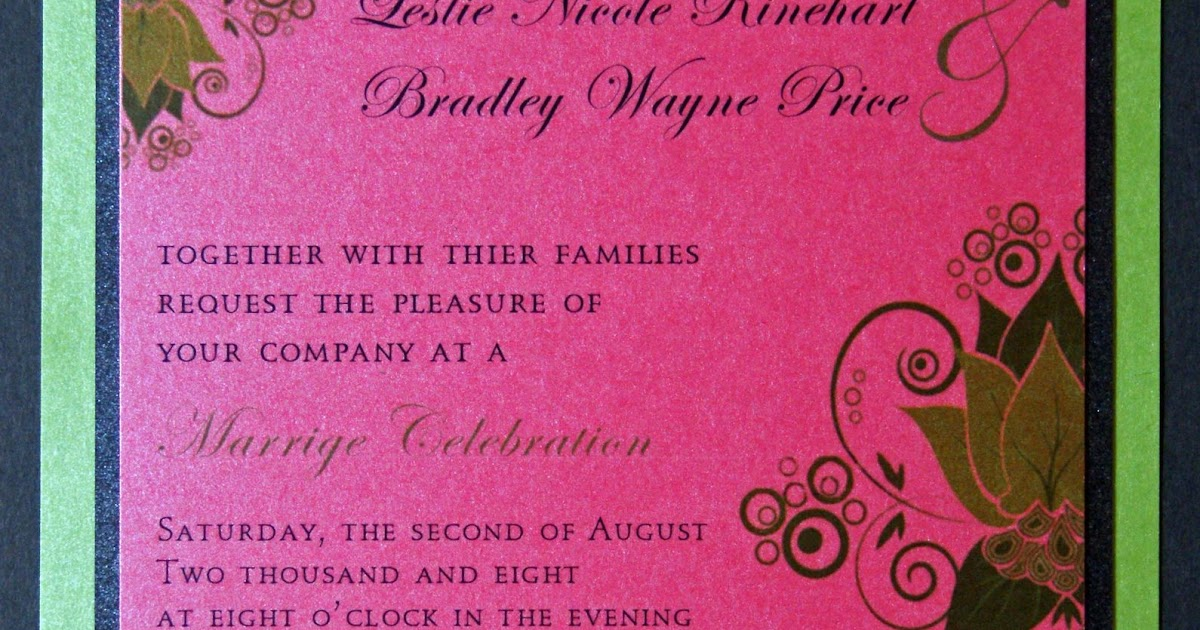 Whitney Owen Designs: MORE Leslie Daniell and Bradley Price Wedding Reception Invites