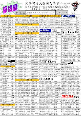 [原價屋報價單]光華商場。2008.4.11版 @ 查價網誌 :: 痞客邦