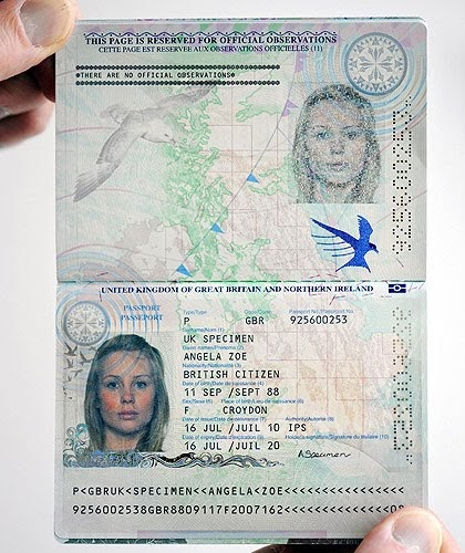 Electronic Real Id Application: It's Our Blog!: The New UK Passport