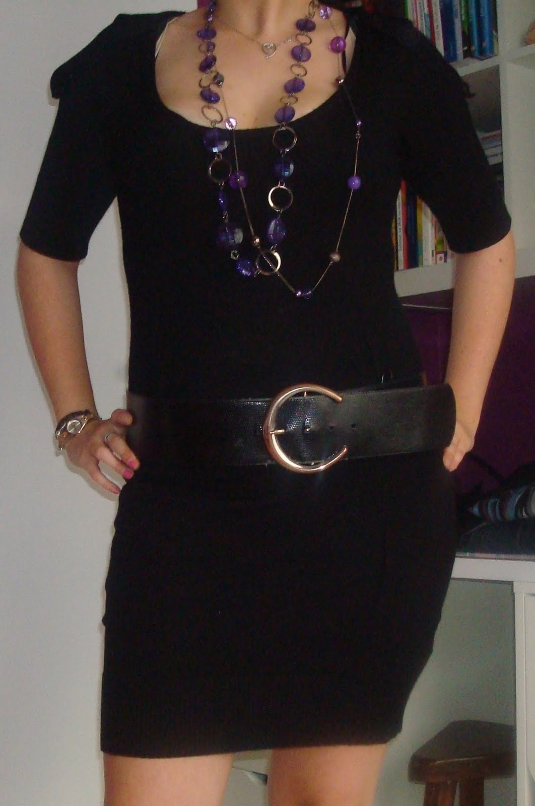 plus de photos 1035f 08237 le vide dressing de Melle Kelly: robe Camaïeu noir
