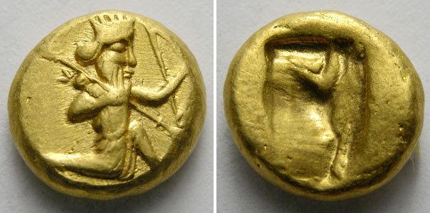 dárico persa -anverso
