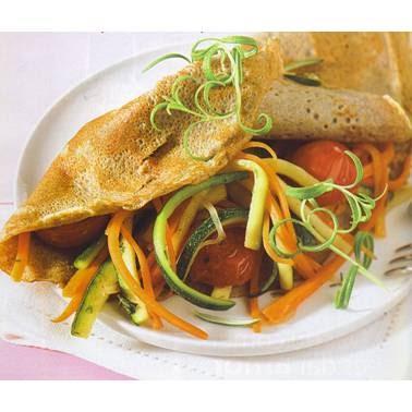 Recetas de cocina receta crepes de trigo integral con for Como cocinar crepes