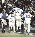 Behind The Bag, It Gets Through Buckner...Here Comes Knight, And The Mets Win It...
