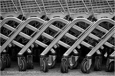 Abstract metal pattern - shopping carts