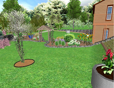 Northern exposure gardening 3d virtual garden design the for Virtual landscape design