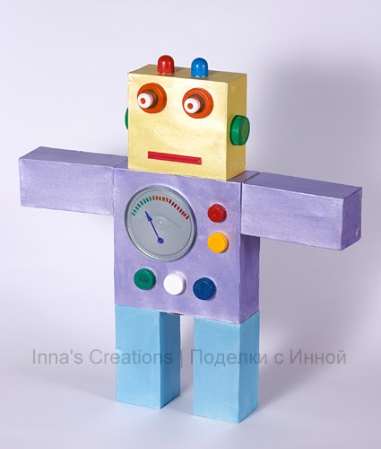 Inna S Creations Recycling Craft Robot Made From Boxes