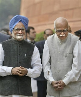 Advani with Sad face