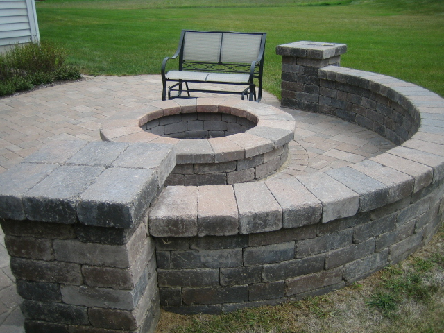 Brick Pavers,Canton,Ann Arbor,Plymouth,Patio,Patios,Repair ... on Pavers Patio With Fire Pit id=73333