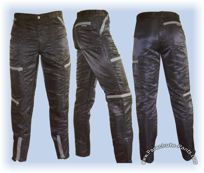 80s Nylon Parachute Pants, Coveralls, Overalls, Wind Pants and Shorts. Everything you need to get back to the 80s.