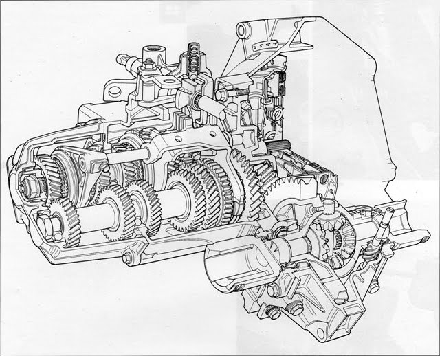 Some details about the U.S. Fiat 500 manual transmission