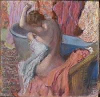 Bañista secandose o despues del baño, de Degas