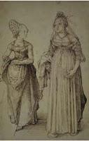 Mujer de Nuremberg y mujer veneciana, de Durero