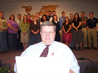Pastor Garder with some of the students he is training to proclaim God's lovingkindness around the world!