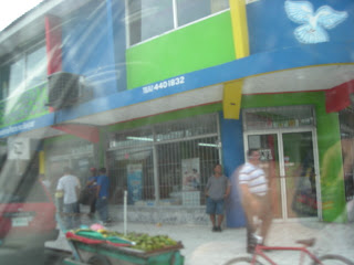 brightly colored store, La Ceiba, Honduras