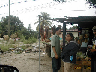 meat and chicharones, San Juan Pueblo, Honduras