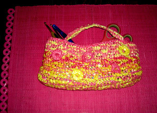 little crocheted plastic bag