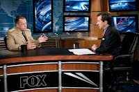 U.S. Navy Adm. Mike Mullen, chairman of the Joint Chiefs of Staff, talks with Chris Wallace, host of Fox News Sunday, Washington, D.C., July 20.