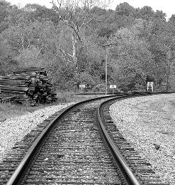 train tracks, freight train, rail
