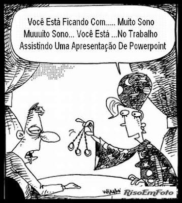 Cartum satiriza os PowerPoint (pps e ppt) que recebemos por e-mail.