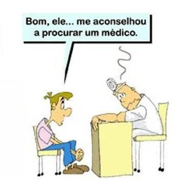 Médico se surpreende com o conselho dado pelo farmacêutico ao paciente.