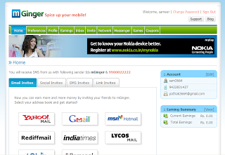 Earn Money Online from home: mginger-Earn from sms