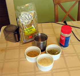 Coriander, salt, and hops.