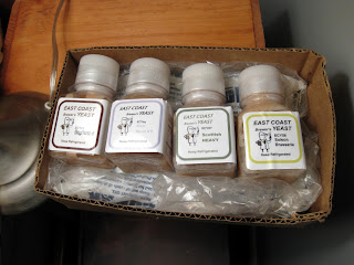 Four East Coast Yeast Vials