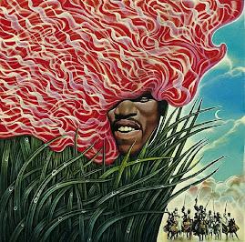 Abdul Mati's portrait of Jimi Hendrix