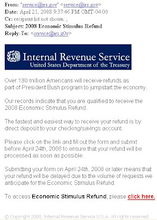 Stimulus refund schedule