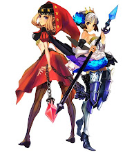 velvet (red) & gwendolyn (blue) - odin sphere