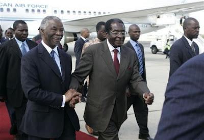 Mugabe et Mbeki à Charm