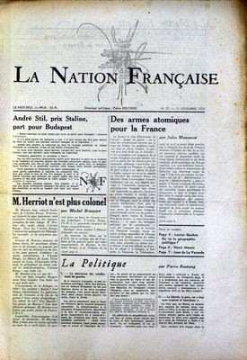 La Nation Française de Boutang