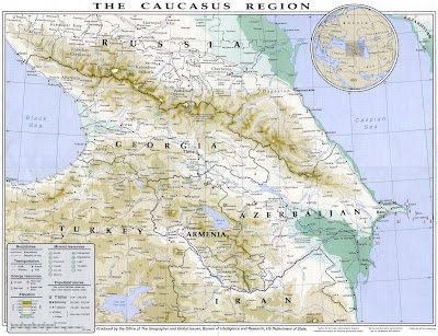 carte du caucase