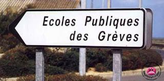 pancarte municipale vers l'école des Grèves