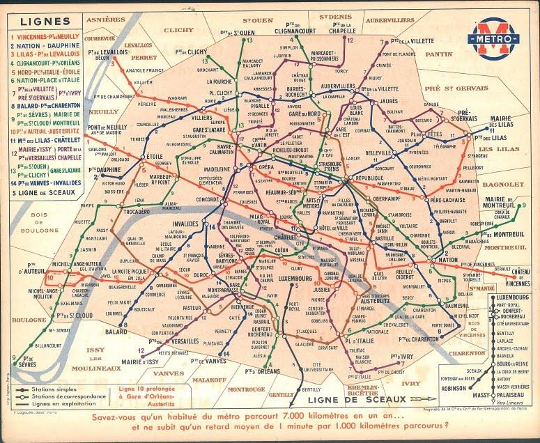Plan De Metro Paris Francais Metro Ratp Francais Carte Mapa Map Of