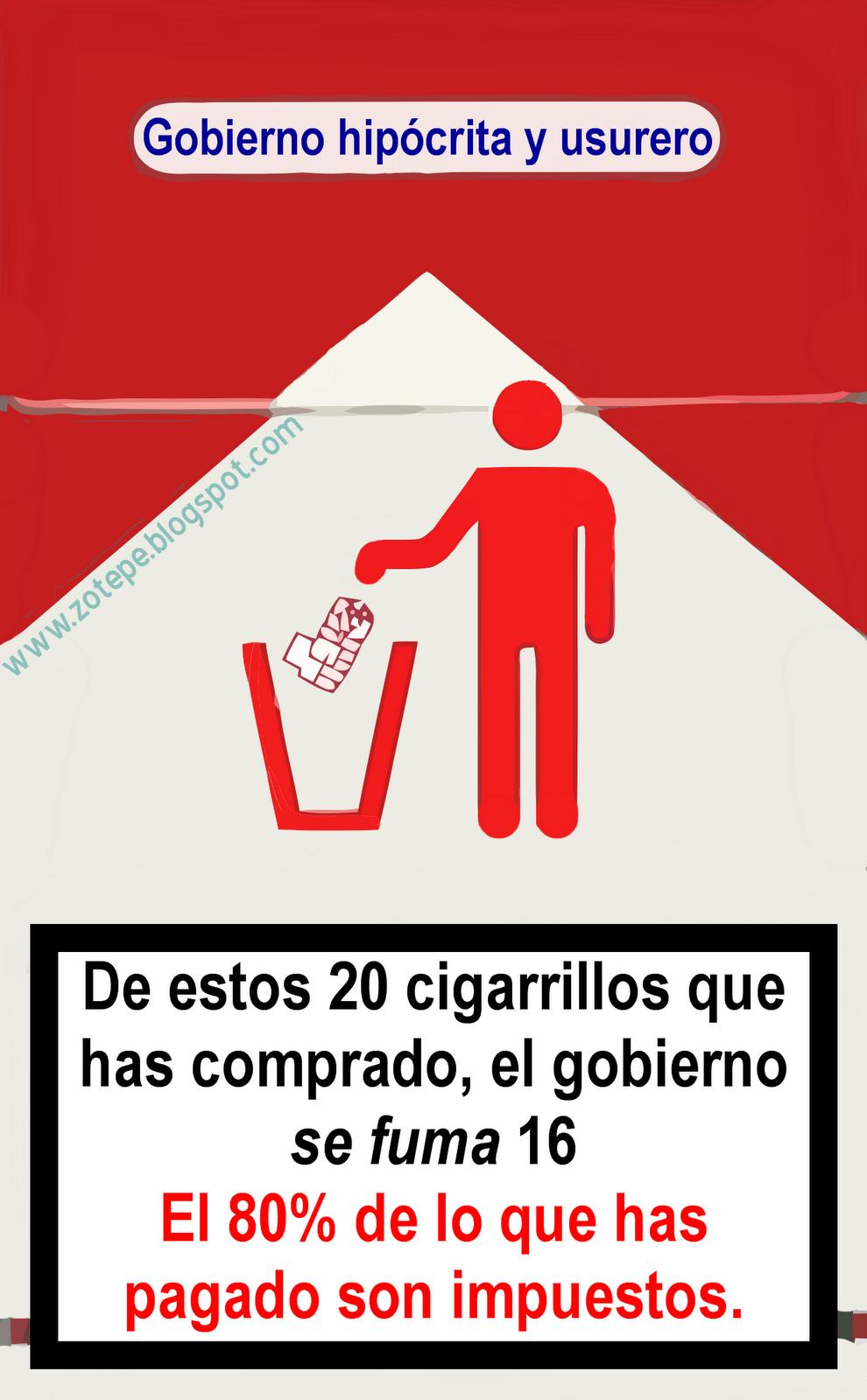 Resultado de imagen de cajetilla de tabaco