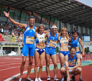 I finalisti azzurri dei 200 m M40 e W40