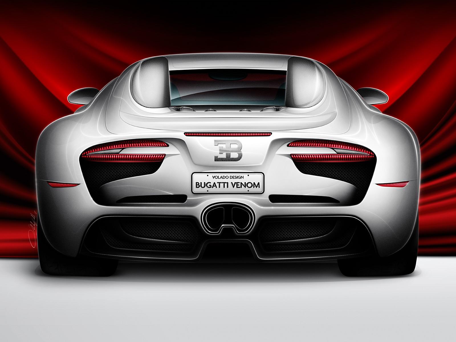 Bugatti Venom Concept Volado Design back 12685 Wallpapers Of Cars Hd