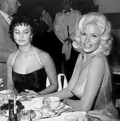 De Otros Mundos Fotos Memorables Sofia Loren Y Jayne Mansfield